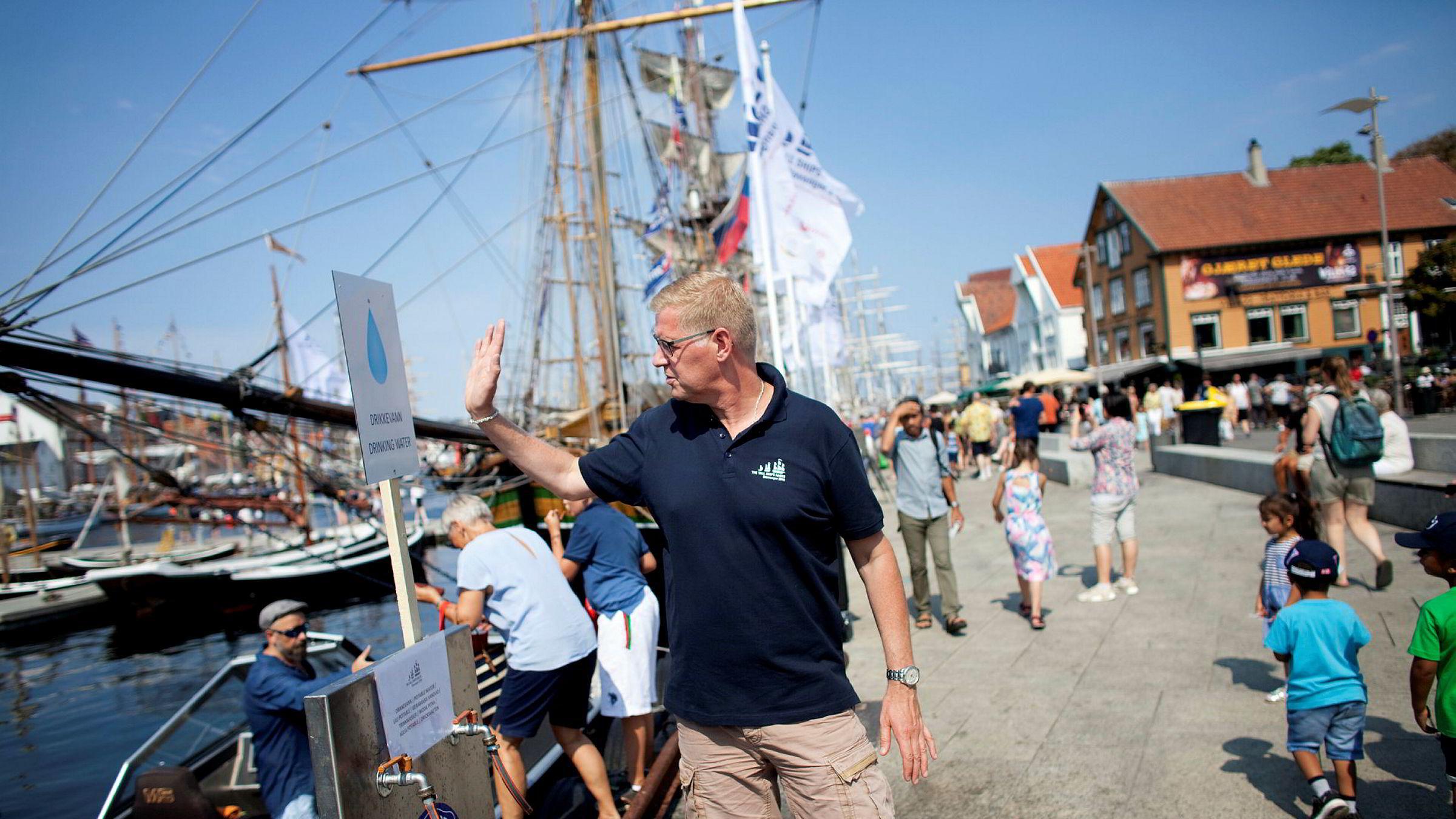Tall Ships Races er denne uken innom en uvanlig varm oljeby. Knud Helge Robberstad er prosjektleder for arrangementet i Stavanger.