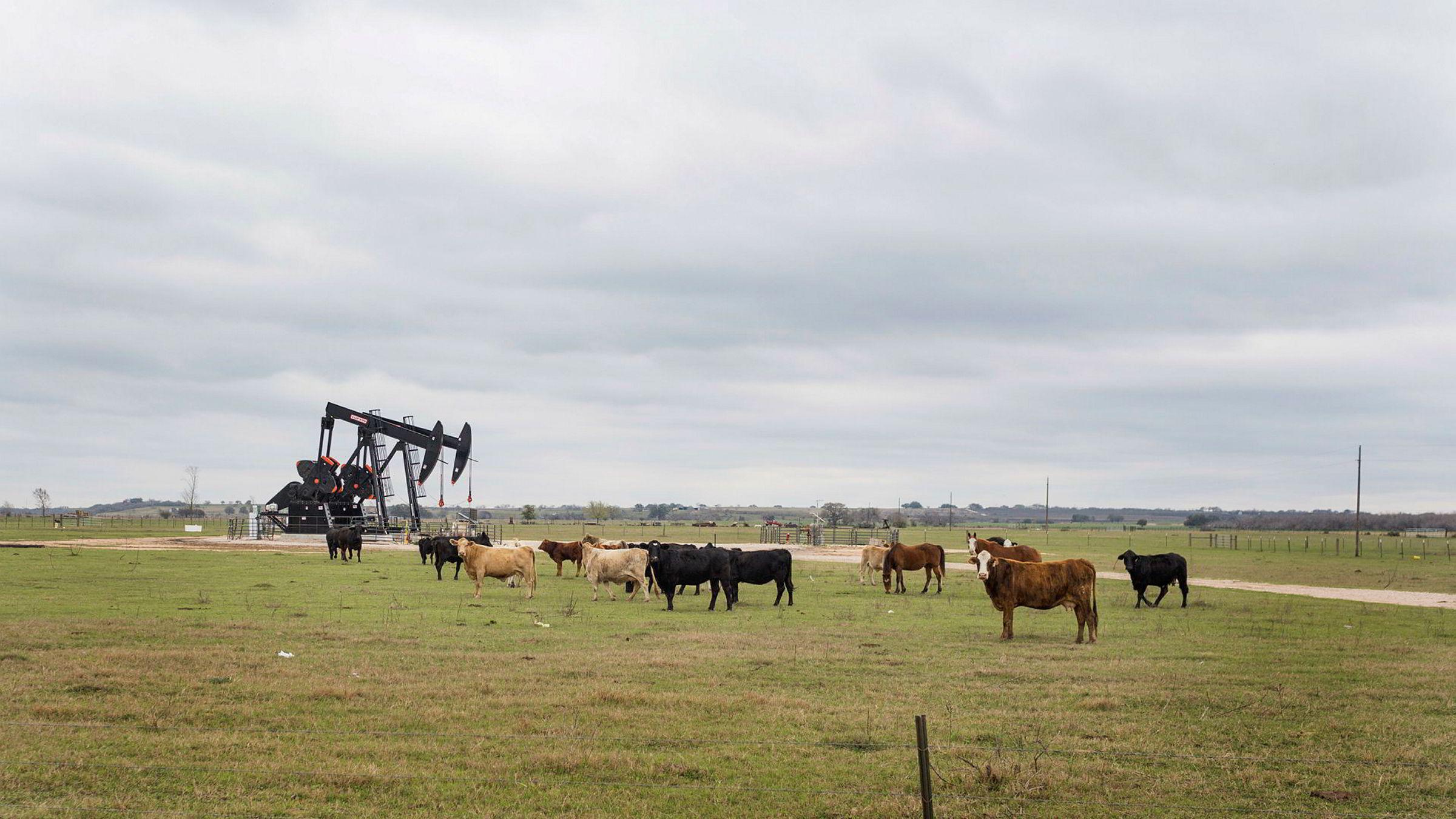 Equinor har gitt etter for presset og vil endelig publisere kvartalstall løpende for virksomheten i USA. Det skjer seks år etter at Finanstilsynet anbefalte selskapet å gjøre nettopp det. Bildet er fra selskapets pumpestasjoner for skifergass i Texas.