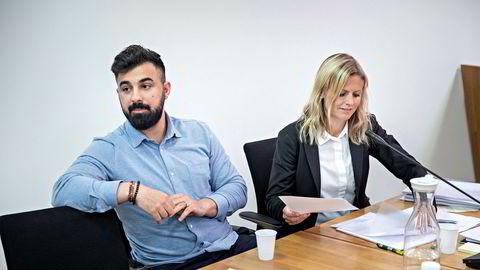 Dyar Al-Ashtari fikk ikke medhold av Follo tingrett. Her med sin advokat, Mari Kristiansen Eldøy fra Lynx advokatfirma.