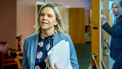 Sylvi Listhaug leder Frps innvandringsutvalg. Hun vil la privatpersoner integrere flyktninger. Foto: Ole Berg-Rusten / NTB ---