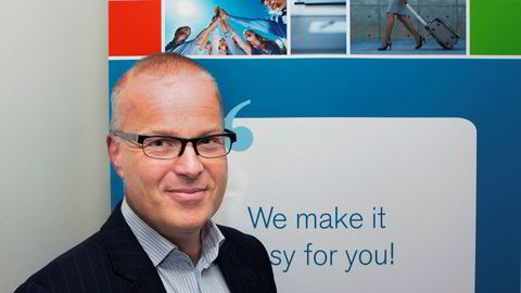 Carl Wilhelm Barth, salgsdirektør for Egencia, er strålende fornøyd med å komme på førsteplass i konkurransen om å ta hånd om et reisevolum på 1,3 milliarder kroner i året for 200 statlige virksomheter.