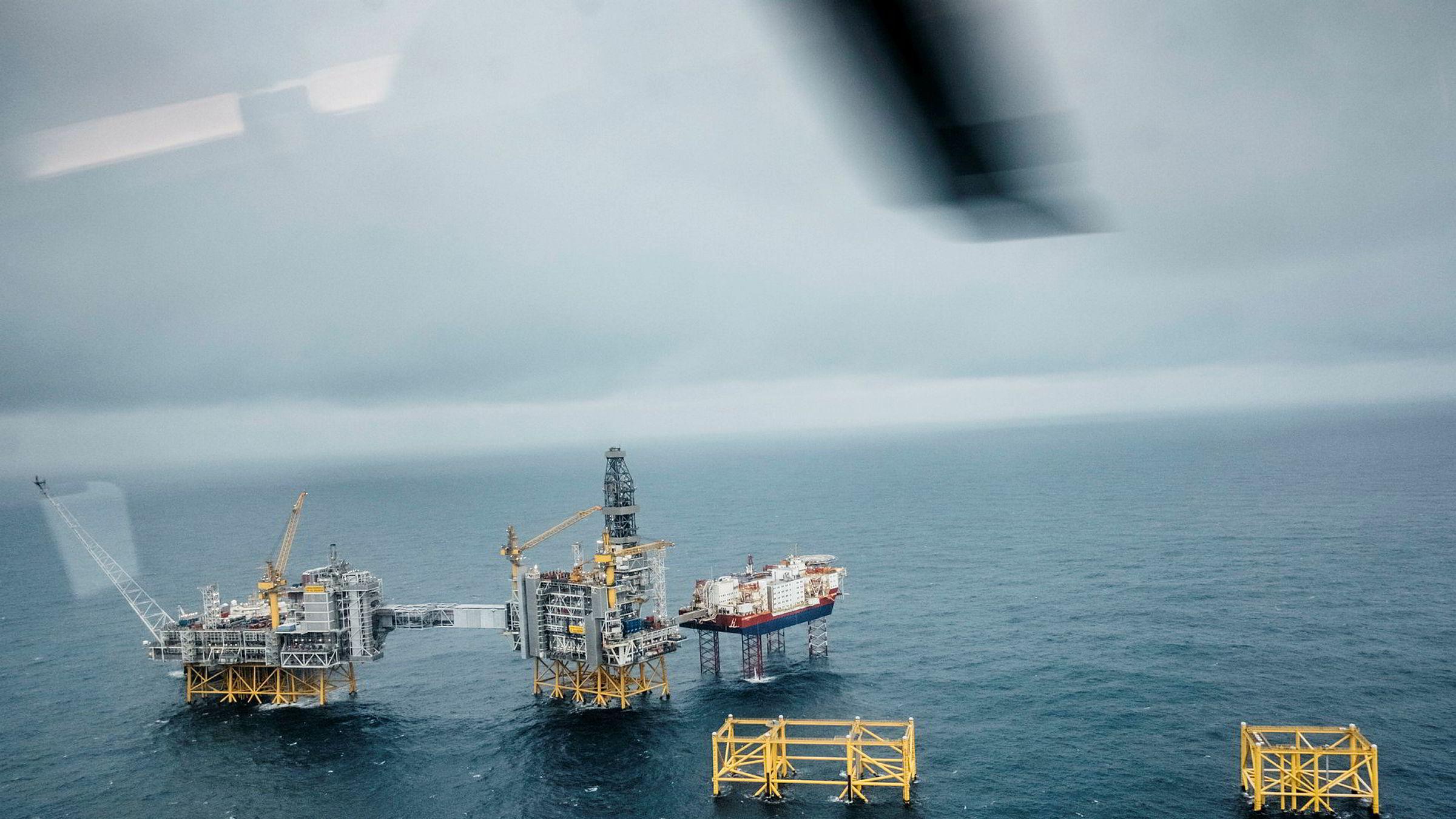 Det bør diskuteres om staten skal kunne kreve en spesifikk utbytteandel av selskapets løpende overskudd. Her fra gigantfeltet Johan Sverdrup i Nordsjøen.