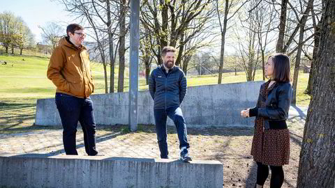 Confrere-gründerne gjør stor suksess med videotejenesten sin. Teknologisjef Dag-Inge Aas (til venstre), daglig leder Svein Willassen og produktsjef Ida Aalen.