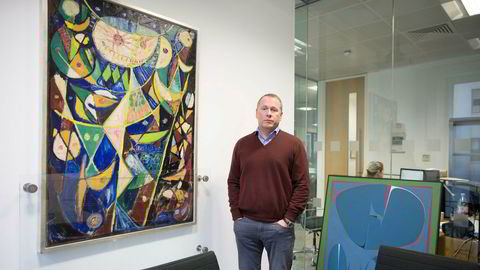 Påtroppende sjef i Oljefondet, Nicolai Tangen, fotografert på London-kontoret til hedgefondet AKO Capital som Tangen startet i 2005.