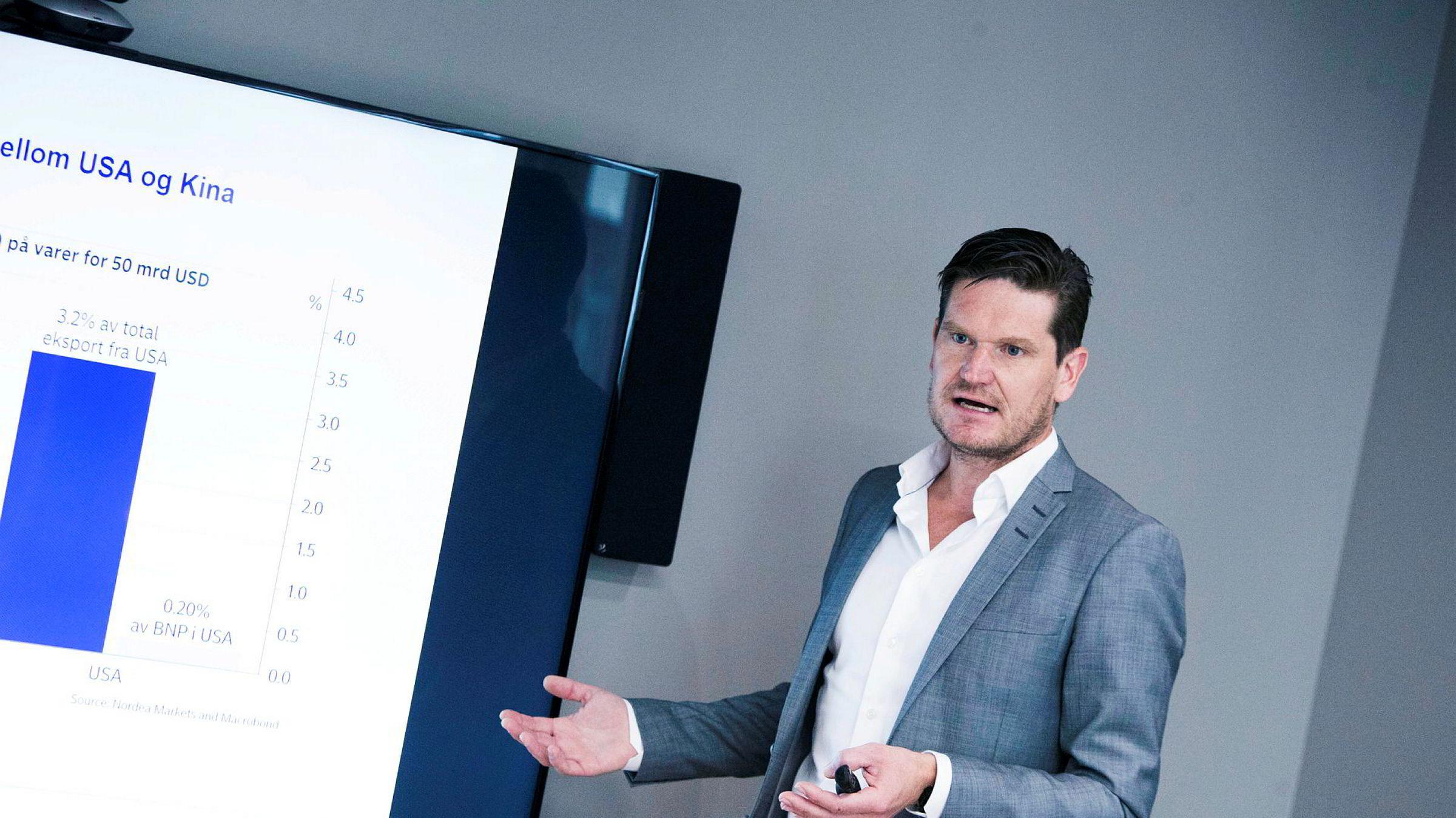 Kjetil Olsen, sjeføkonom i Nordea, tror nordmenns private forbruk kan holde veksten opp i norsk økonomi.