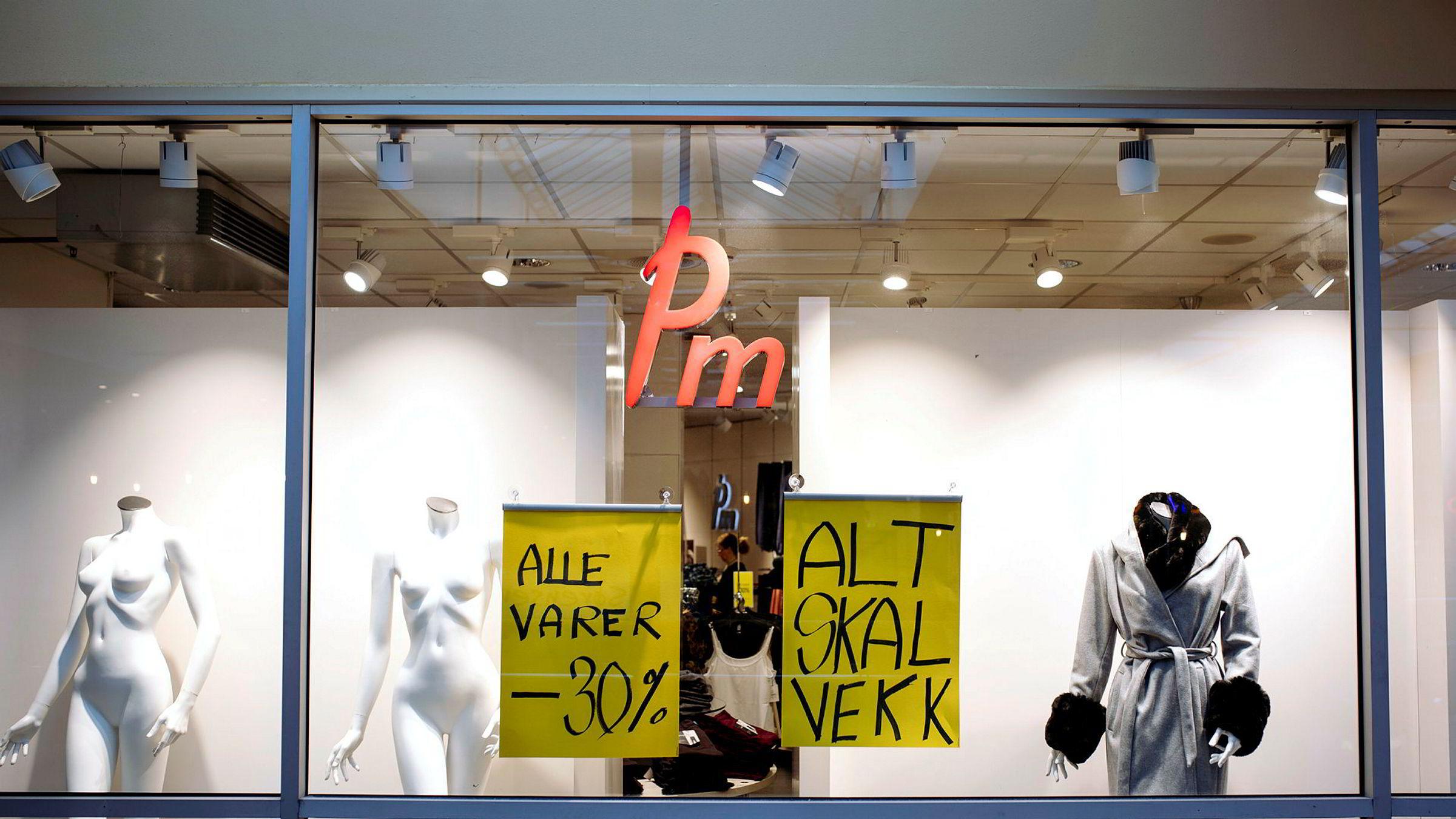 Kleskjeden Pm Mote gikk konkurs i oktober 2018. Her fra en av kjedens tidligere butikker på Manglerudsenteret i Oslo.