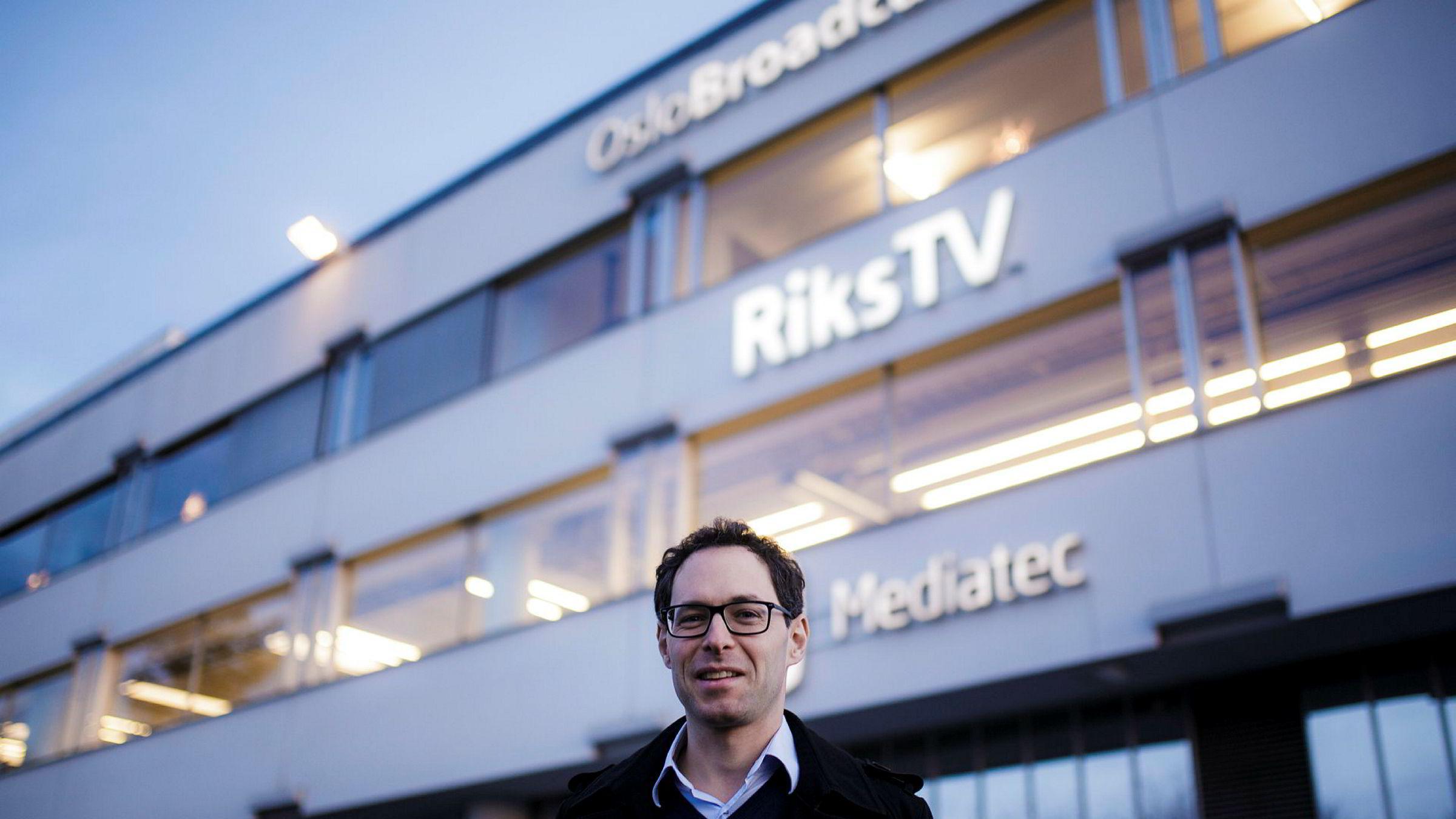 Administrerende direktør Jérôme Franck-Sætervoll i RiksTV.