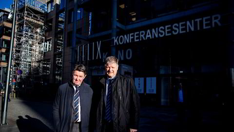 Norwegian-sjef Jacob Schram (til høyre) og finansdirektør Geir Karlsen har de siste ukene jobbet med en kriseplan for å redde Norwegian. Den ble lagt frem onsdag før påske – etter børsens stengetid.