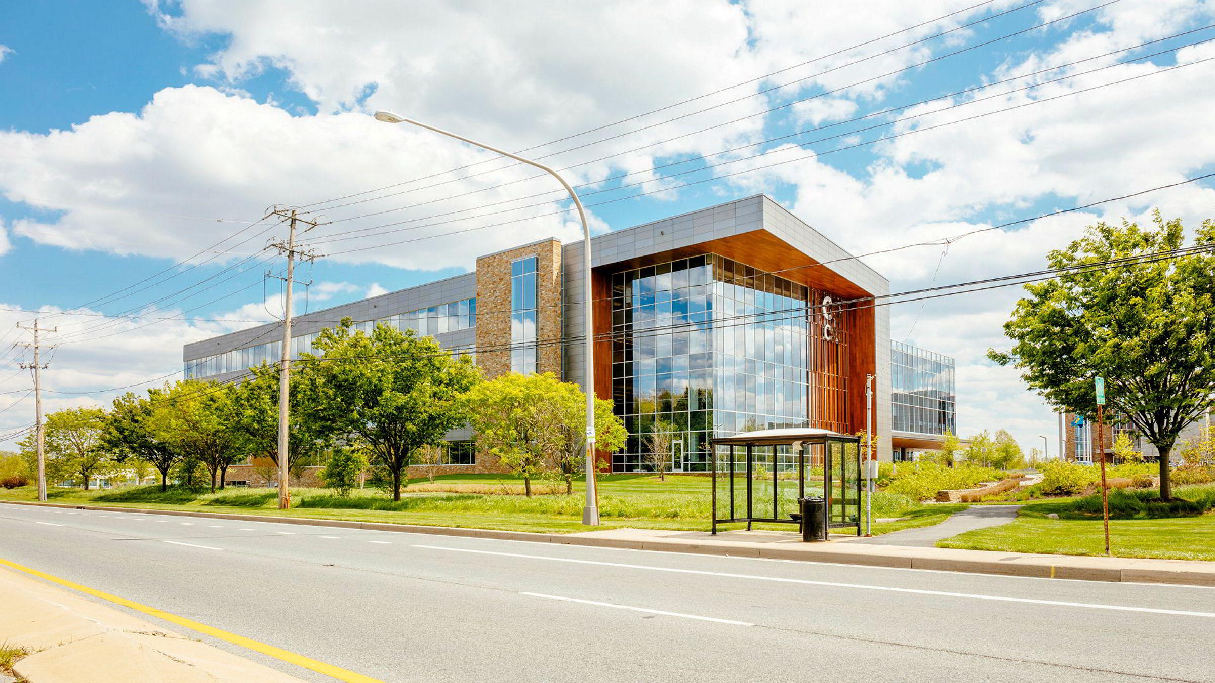 Her er bygningen i Wilmington i Delaware hvor Equinor har registrert sitt amerikanske holdingselskap. Det norske oljeselskapet har ingen ansatte i Delaware.