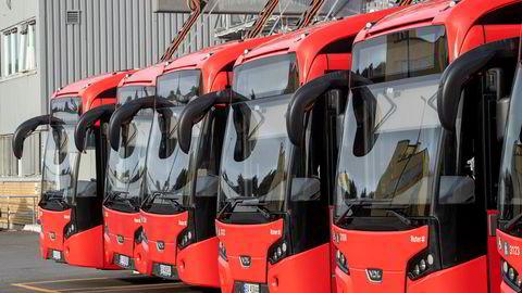 Alle førerne av Ruters by- og regionbusser er tatt ut i streik. Foto: Terje Pedersen / NTB