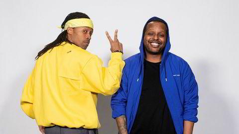 Madcon-medlemmene Tshawe Baqwa (til venstre) og Yosef Wolde-Mariam har i mange år vært noen av Norges mest folkekjære artister. Førstnevnte er for øyeblikket dommer i TV 2-programmet Idol.