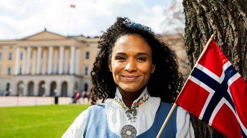 Haddy Njie ledet også NRKs tv-sending fra Slottsplassen 17. mai i fjor.