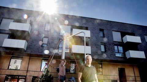Administrerende direktør Hans Jacob Sundby i Læringsverkstedet utenfor Sørengkaia barnehage.