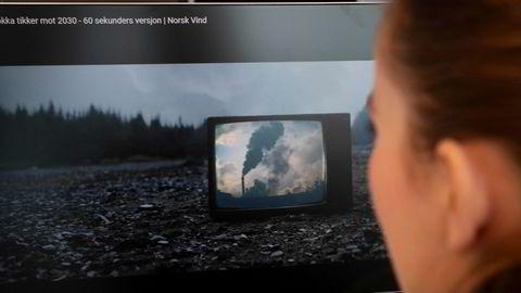 Reklamevideoen «Klokka tikker mot 2030» har møtt massiv motstand fra vindmøllemotstandere.