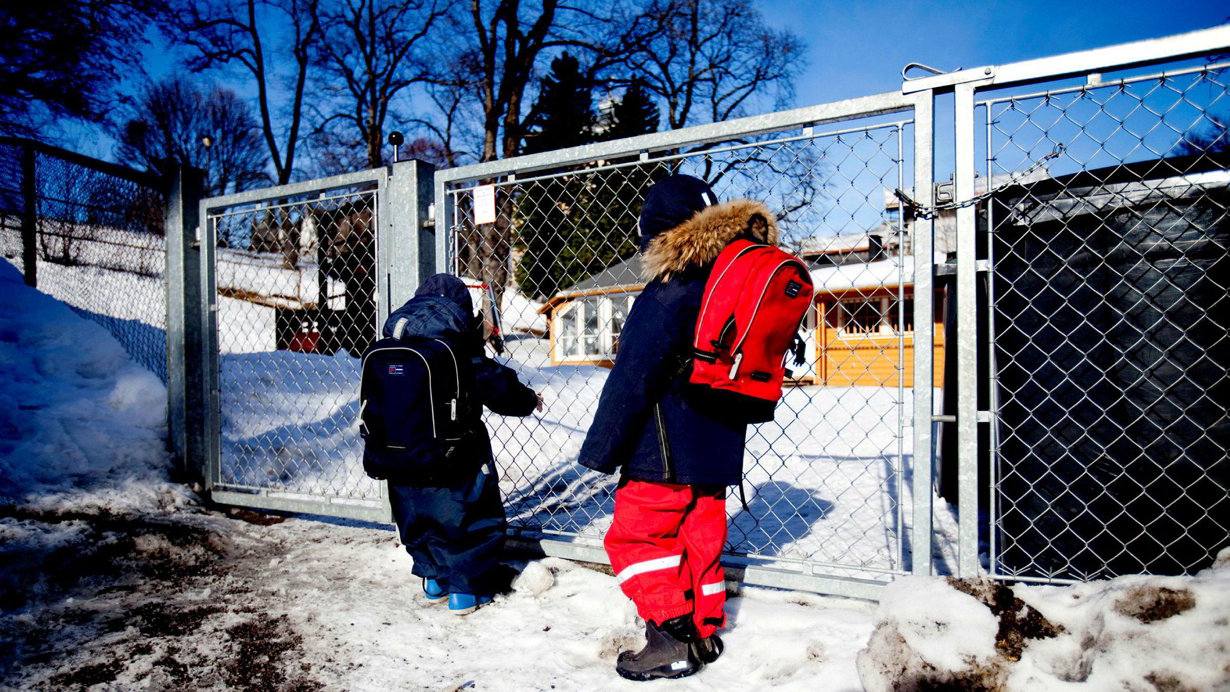 Foreldre flest er svært fornøyd med norske barnehager. Men for meg er det en trygghet å vite at hvis noe ikke skulle fungere, så kan jeg søke en annen barnehage.