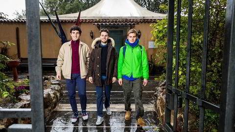 Økonomistudentene Alejandro Pepe (19), Federico Cafarella (20) og Lorenzo Sciarretta (20) forteller om en uklar fremtid.