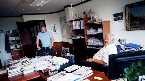 Trond Jacobsen (til venstre) og faren Trygve Jacobsen er blant Stavangers rikeste.