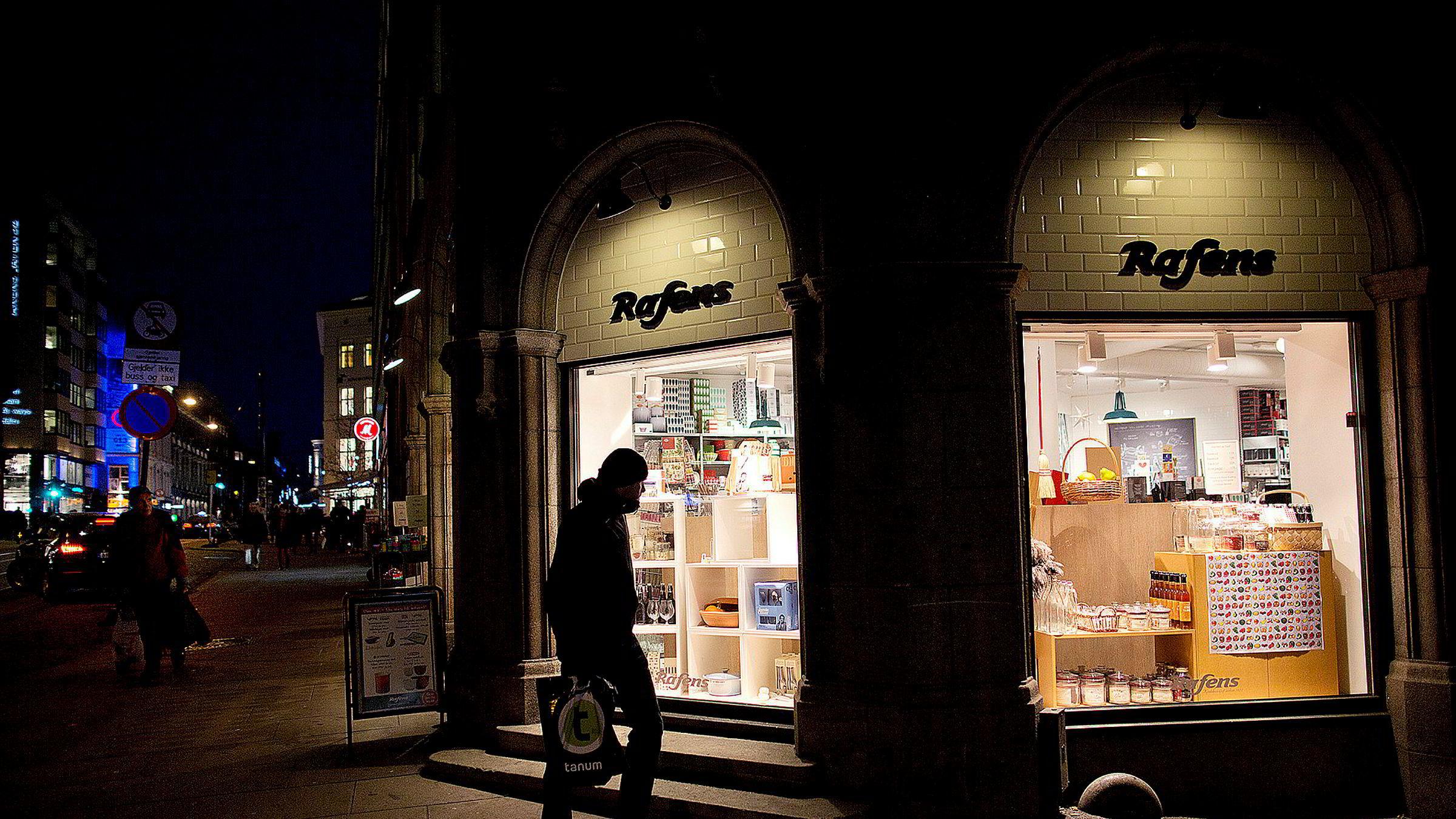 Rafens-filial i Grensen 16 i Oslo blir trolig Kitchn-butikk, ifølge daglig leder i Rafens-eier Tirag, Odd Sverre Arnøy.