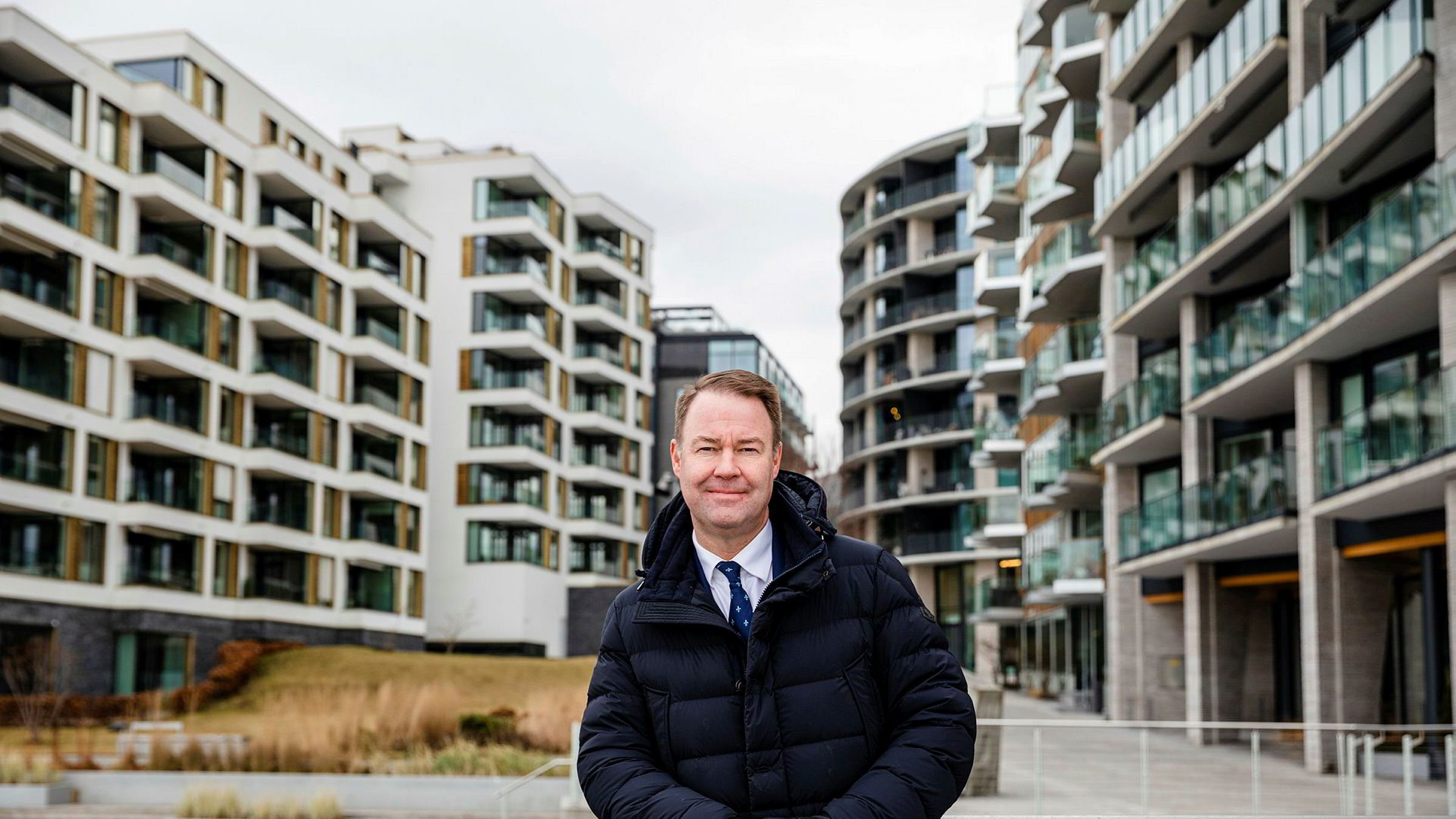 Trond Mellingsæter, sjef for Danske Bank Norge, er fornøyd med at de nå kan tilby kundene deres landets laveste boliglånsrente.