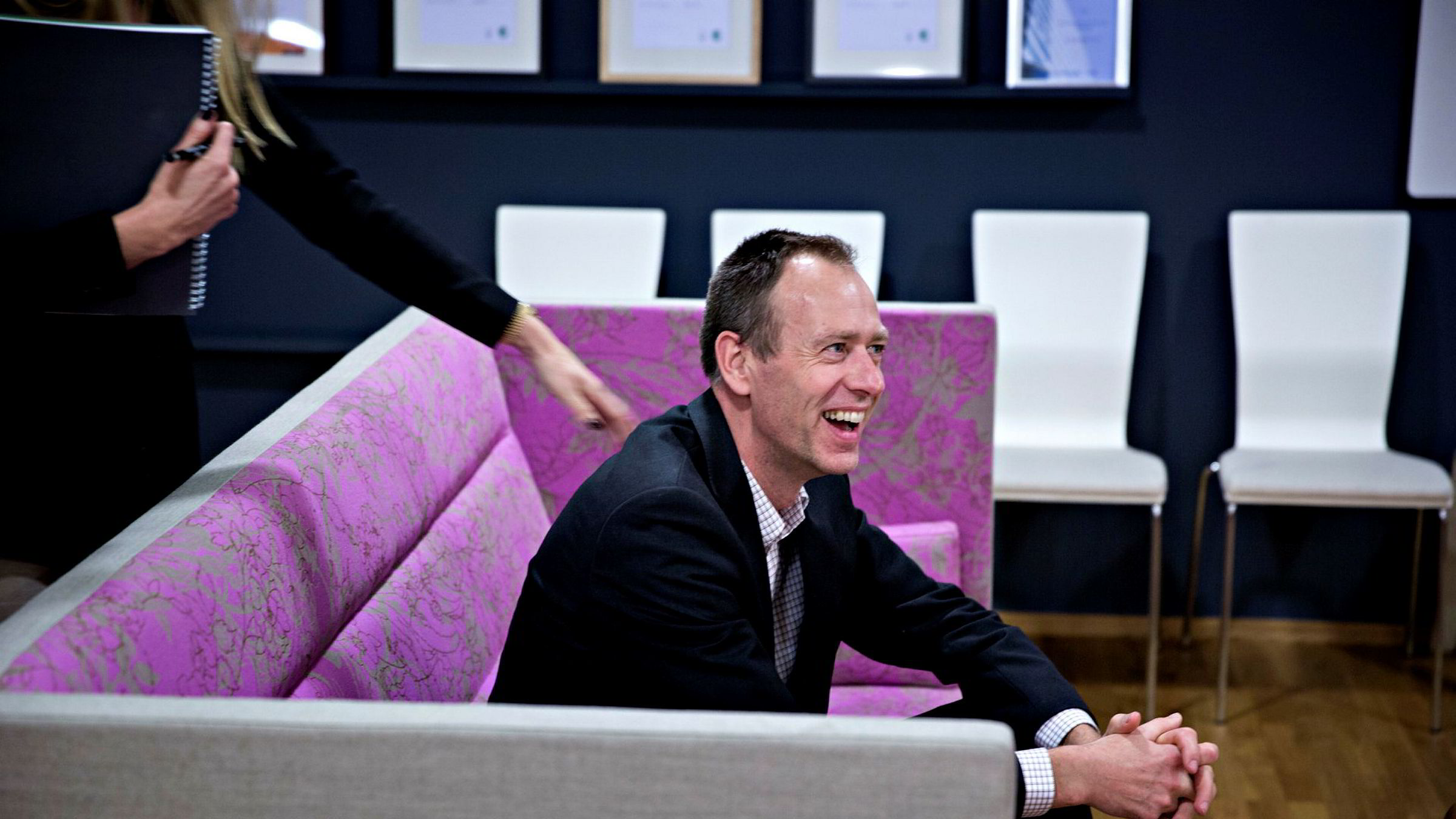 Finansdirektør Bjørn Tjaum i Steen & Strøm har landet en rimelig grei låneavtale. Foto: