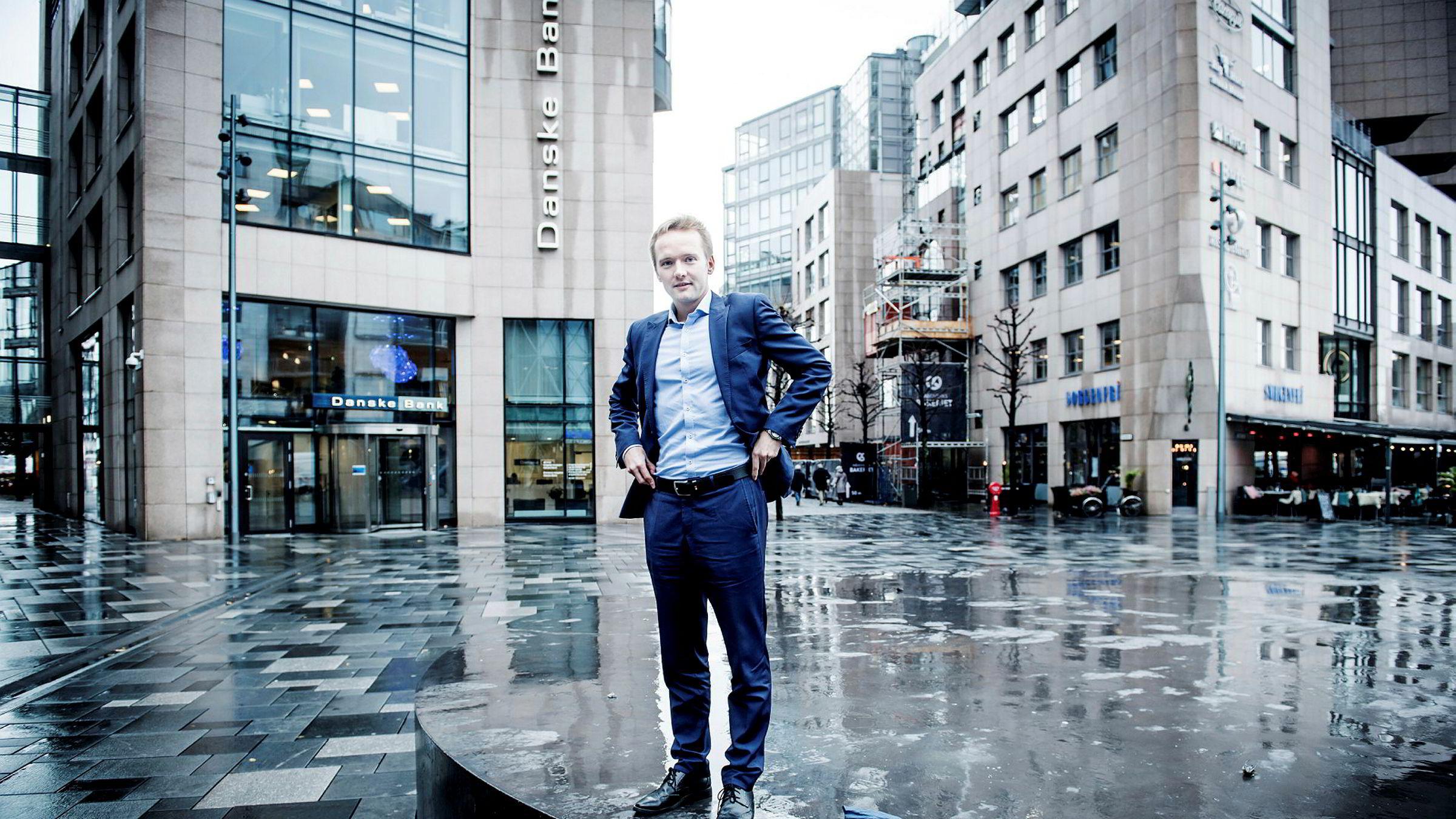 Valutaanalytiker Kristoffer Lomholt fra Danske Bank.