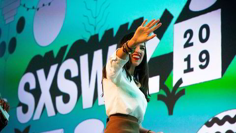 Alexandria Ocasio-Cortez, kongressrepresentant, som var trekkplaster på SXSW i fjor.