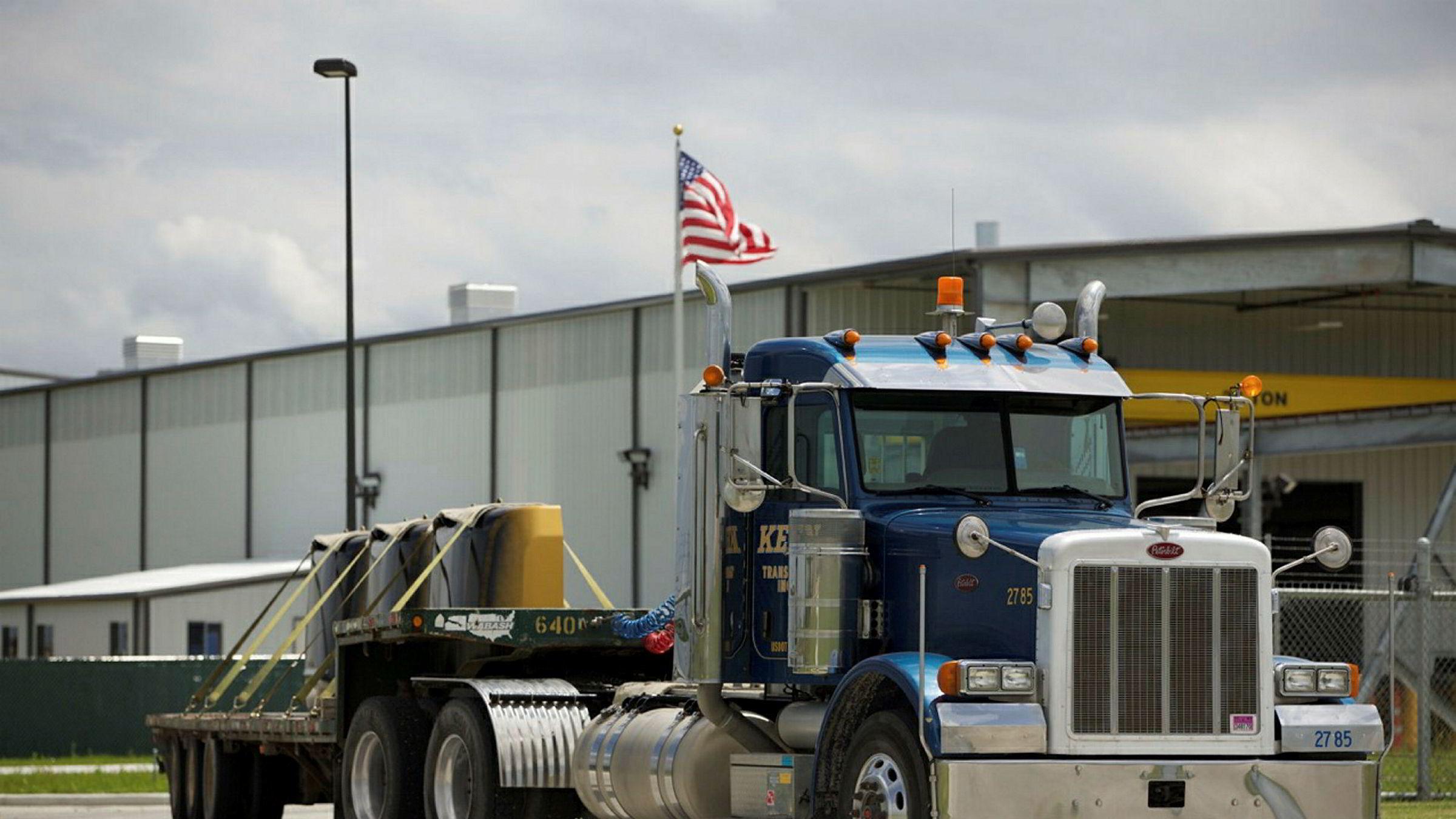 Wallenius Wilhelmsen Logistics kjøper Keen Logistics, som blant annet har spesialtrailere, som denne.