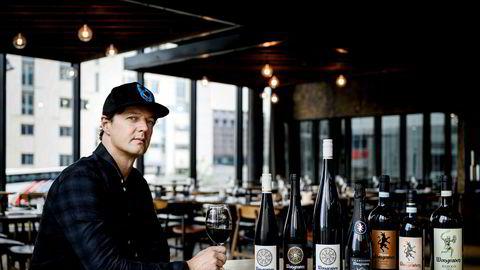 Sigurd Wongraven, vinmaker og frontfigur i Satyricon, fotografert på restaurant Vaaghals i 2019.
