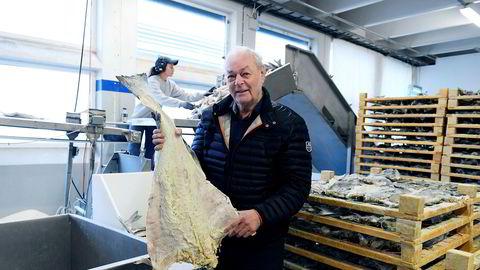 Anders Pedersen, som etter salget av oppdrettsselskapet Fjordlaks Aqua for en milliard i fjor, konsentrerer seg om klippfiskproduksjonen her i Ålesund og ved to anlegg i Nord-Norge.