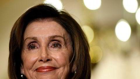 Lederen i Representantenes hus, demokraten Nancy Pelosi, orienterte mandag om den videre veien i riksrettsprosessen.