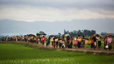 Siden 25. august i fjor har anslagsvis 700.000 rohingyaer flyktet fra Myanmar til Bangladesh etter en offensiv fra regjeringsstyrker i delstaten Rakhine.