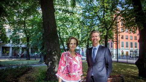 Styreleder Anette Olsen og nestleder i styret Richard Olav Aa i NHST Media Group jakter fremdeles etter ny konsernsjef.