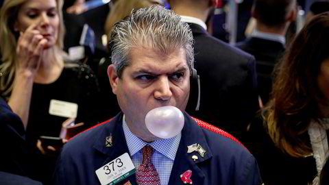 Luften kan være i ferd med å gå ut av de amerikanske børsene. Her fra New York-børsen (Nyse) ved en tidligere anledning.