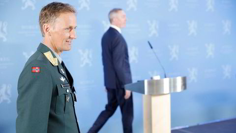 Eirik Johan Kristoffersen ble presentert som ny forsvarssjef tirsdag formiddag.
