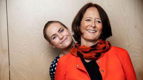 Nora Rydne og Eva Grinde diskuterer sjenerte ledere med organisasjonspsykolog Krister Halck i ukens episode av Mandagsmøtet.