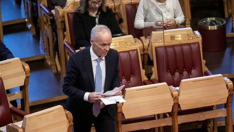 Finansminister Jan Tore Sanner la onsdag frem statsbudsjettet for 2021 der det foreslås økt formuesskatt på dyre boliger.