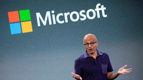 Satya Nadella har vært toppsjef i Microsoft siden 2014. Her avbildet i New York i fjor høst.