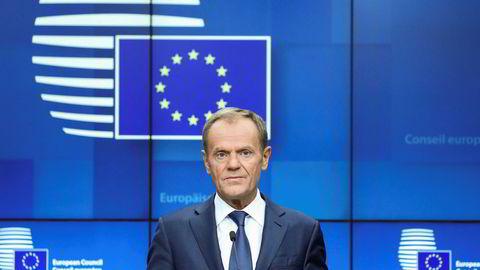 EU-president Donald Tusk er positiv til ny brexit-utsettelse for Storbritannia.