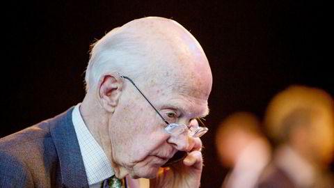 Fred Olsen her avbildet på Rederiforbundets årskonferanse i Folketeateret.