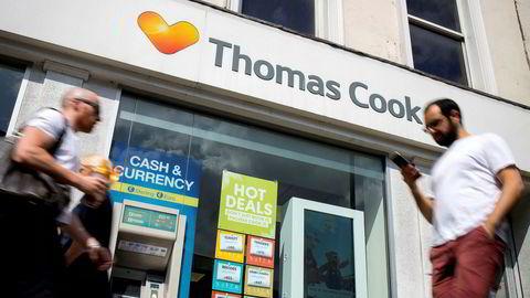 Konkurs for noen kan gi cash til andre. Her et Thomas Cook-reisebyrå i London.