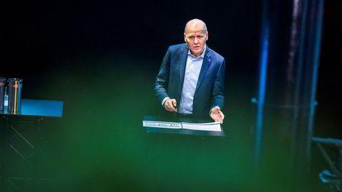 Konsernsjef Sigve Brekke i Telenor legger torsdag frem tallene for andre kvartal fra hovedkontoret på Fornebu.