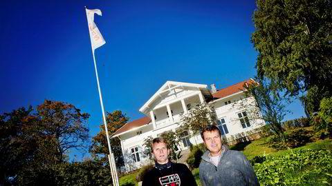 Rune Kristiansen (til venstre) og Geir Nielsen startet Utleiemegleren i 1995. Nå er det kjent at halve selskapet i 2018 ble solgt for en kvart milliard kroner.