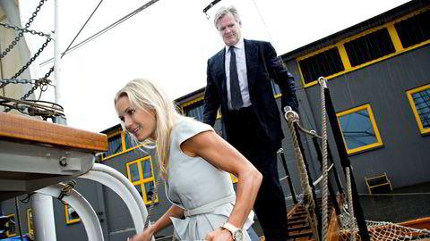 Investor Tor Olav Trøim skapte milliardverdier og nye virksomheter i offshore og shipping etter at han begynte for seg selv i 2014. Med stor risikovilje har mange av satsingene gått feil vei. Her med Celina Midelfart under en shippingfest i Oslo i 2013.