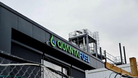 Fornybarselskapet Quantafuel har steget voldsomt i markedsverdi siden børsnoteringen i februar i år. Her fra bedriftens anlegg i Skive i Danmark.