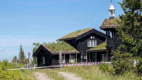 Hytta til Tom Hagen og familien på Kvitfjell.
