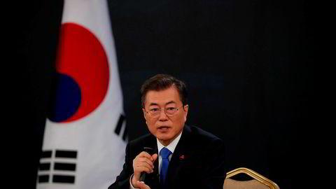 Sør-Koreas president Moon Jae-in vil gjerne møte Nord-Koreas leder Kim Jung-un.