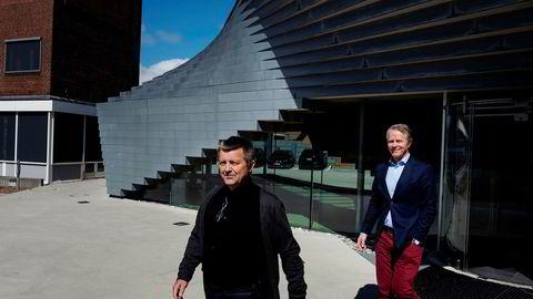 Vindkraftgründer Lars Helge Helvig og Pål Selboe Valseth henter penger til nok en fornybarsatsning.