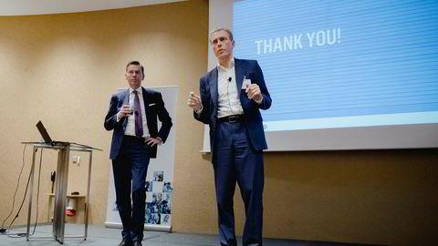 Raoul Grünthal (til venstre), sjef for Schibsted Media, og Schibsteds konsernsjef Rolv Erik Ryssdal er de to best betalte toppene i selskapet.