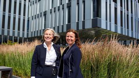 Valborg Lundegaard (til venstre) og Astrid Onsum tar over som sjefer for de nye, utskilte selskapene som springer ut fra oljeserviceselskapet Aker Solutions.