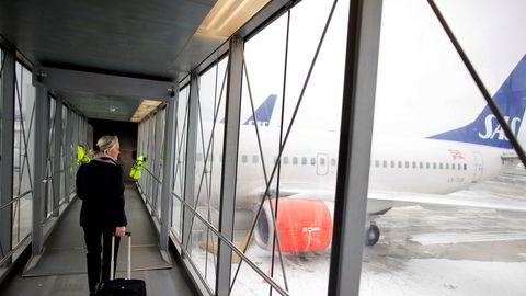 SAS' norske kabinansatte er organisert i to fagforeninger, og de jobber tett sammen frem mot vårens tarifforhandlinger om lønn og arbeidsforhold. Her fra Oslo lufthavn.